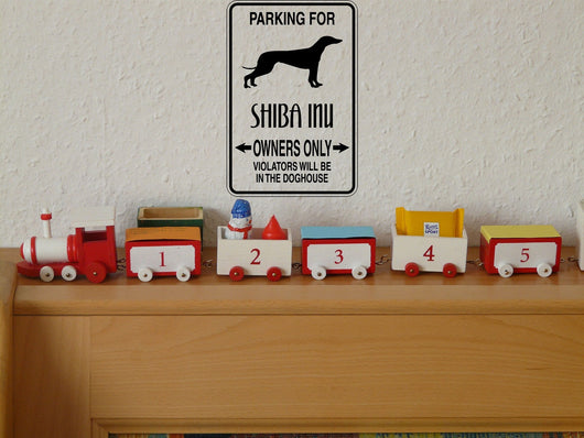 Parking for Shiba Inu Owners Only #2 Sign  - Car or Wall Decal - Fusion Decals