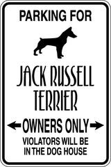 Parking for Jack Russel Terrier Owners Only Sign  - Car or Wall Decal - Fusion Decals