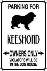 Parking for Keeshond Owners Only Sign  - Car or Wall Decal - Fusion Decals