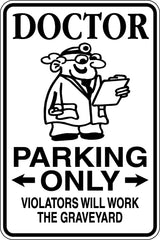 Director Parking Only Sign  - Car or Wall Decal - Fusion Decals