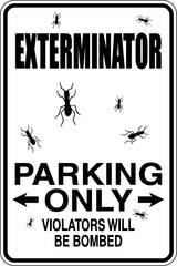Dry Cleaners Parking Only #2 Sign  - Car or Wall Decal - Fusion Decals