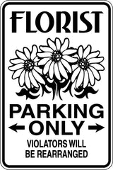 EMT Parking Only Sign  - Car or Wall Decal - Fusion Decals