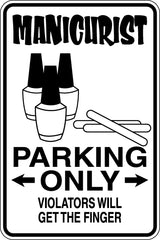 Maintenance Man Parking Only Sign  - Car or Wall Decal - Fusion Decals