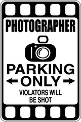 Manicurist Parking Only #2 Sign  - Car or Wall Decal - Fusion Decals
