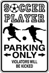Boxer Parking Only Sign  - Car or Wall Decal - Fusion Decals