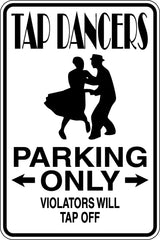 Dancer Parking Only #2 Sign  - Car or Wall Decal - Fusion Decals