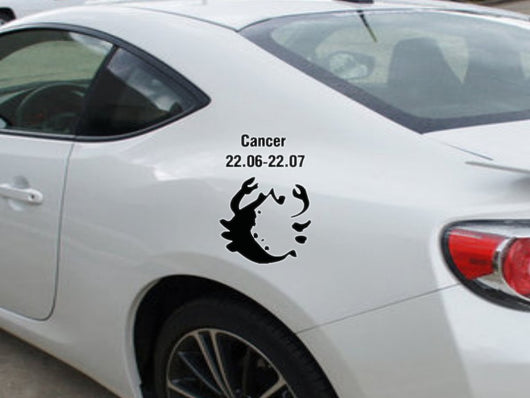 Cancer-22.06-22.07-3rd  Kanji  - Car or Wall Decal - Fusion Decals