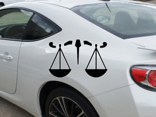 Libra-4th  Kanji  - Car or Wall Decal - Fusion Decals