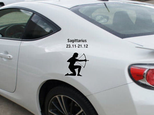 Sagittarius-23.11-21.12-2nd  Kanji  - Car or Wall Decal - Fusion Decals