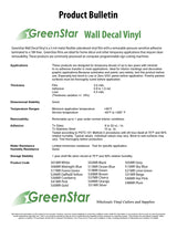 "Ocean Blue - GreenStar Indoor Vinyl - Matte Removable Calendered Film 24"" x 8 Yd"