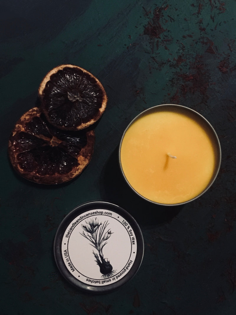 The candle and incense shop- Sunrise Saffron Travel Candle