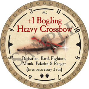 +1 Bogling Heavy Crossbow - 2019 (Gold)