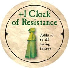 +1 Cloak of Resistance - 2004 (Wooden)