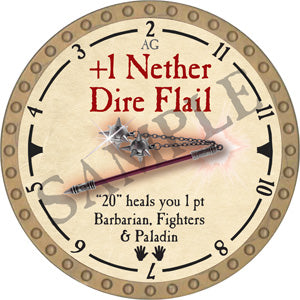 +1 Nether Dire Flail - 2019 (Gold)
