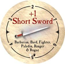 +1 Short Sword - 2006 (Woodie)