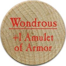 +1 Amulet of Armor - 2006 (Wooden) - C37