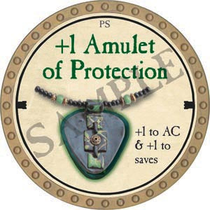 +1 Amulet of Protection - 2020 (Gold)