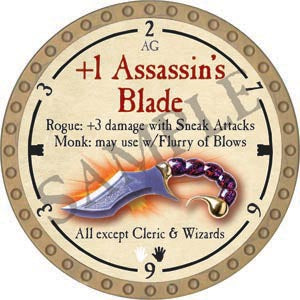 +1 Assassin's Blade - 2020 (Gold)