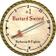 +1 Bastard Sword - 2007 (Gold)