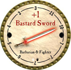 +1 Bastard Sword - 2011 (Gold) - C37