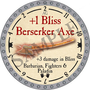 +1 Bliss Berserker Axe - 2018 (Platinum) - C37