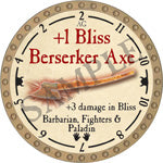 +1 Bliss Berserker Axe - 2018 (Gold)
