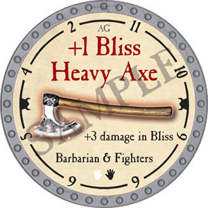 +1 Bliss Heavy Axe - 2018 (Platinum) - C37