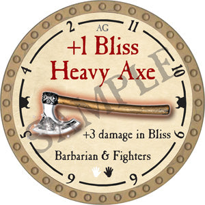 +1 Bliss Heavy Axe - 2018 (Gold) - C49