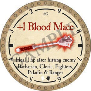 +1 Blood Mace - 2020 (Gold)