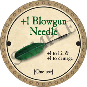 +1 Blowgun Needle - 2017 (Gold)