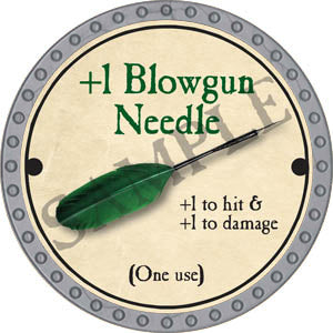 +1 Blowgun Needle - 2017 (Platinum)