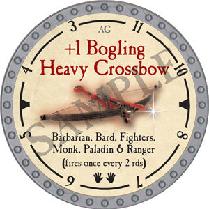 +1 Bogling Heavy Crossbow - 2019 (Platinum)