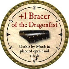 +1 Bracer of the Dragonfist - 2007 (Gold)