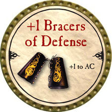 +1 Bracers of Defense - 2010 (Gold) - C59