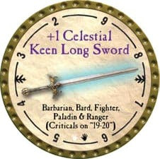 +1 Celestial Keen Long Sword - 2009 (Gold) - C49