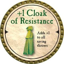 +1 Cloak of Resistance - 2007 (Gold)