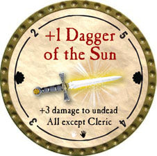 +1 Dagger of the Sun - 2011 (Gold)