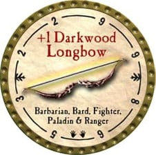 +1 Darkwood Longbow - 2009 (Gold)