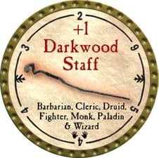+1 Darkwood Staff - 2009 (Gold)