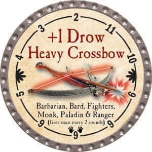 +1 Drow Heavy Crossbow - 2015 (Platinum) - C37