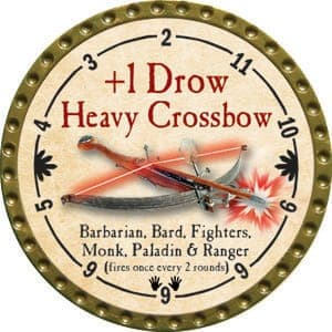 +1 Drow Heavy Crossbow - 2015 (Gold)