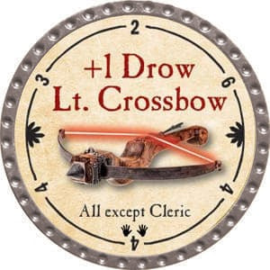 +1 Drow Lt. Crossbow - 2015 (Platinum) - C37