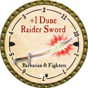 +1 Dune Raider Sword - 2014 (Gold)