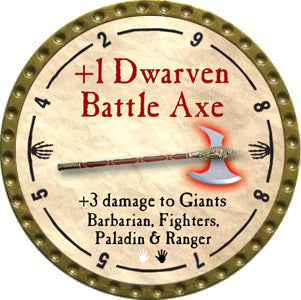 +1 Dwarven Battle Axe - 2012 (Gold)