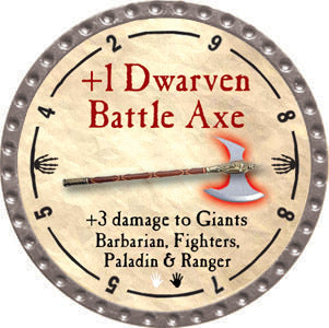 +1 Dwarven Battle Axe - 2012 (Platinum) - C37