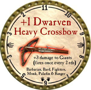 +1 Dwarven Heavy Crossbow - 2012 (Gold)