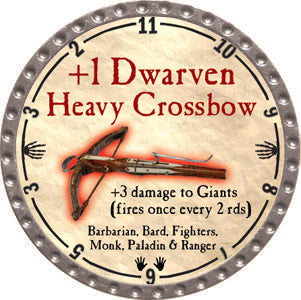 +1 Dwarven Heavy Crossbow - 2012 (Platinum) - C37