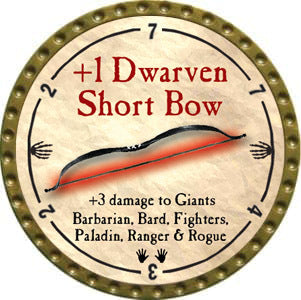 +1 Dwarven Short Bow - 2012 (Gold)