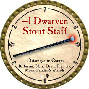 +1 Dwarven Stout Staff - 2012 (Gold)