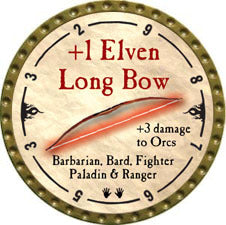 +1 Elven Long Bow - 2010 (Gold) - C37